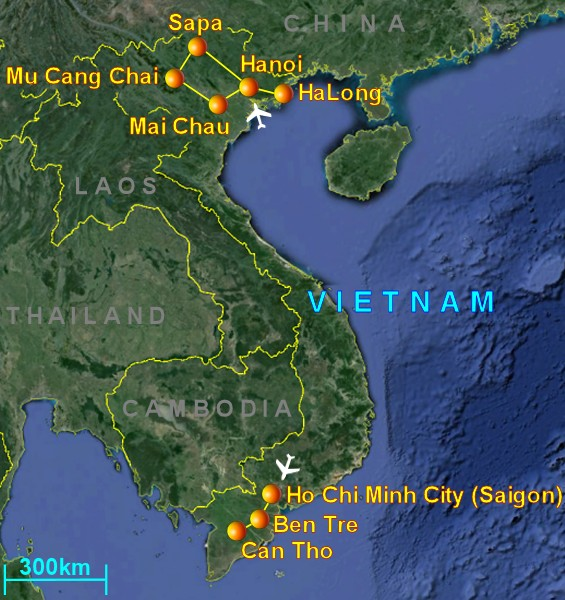 Suggested travel itinerary in Vietnam
